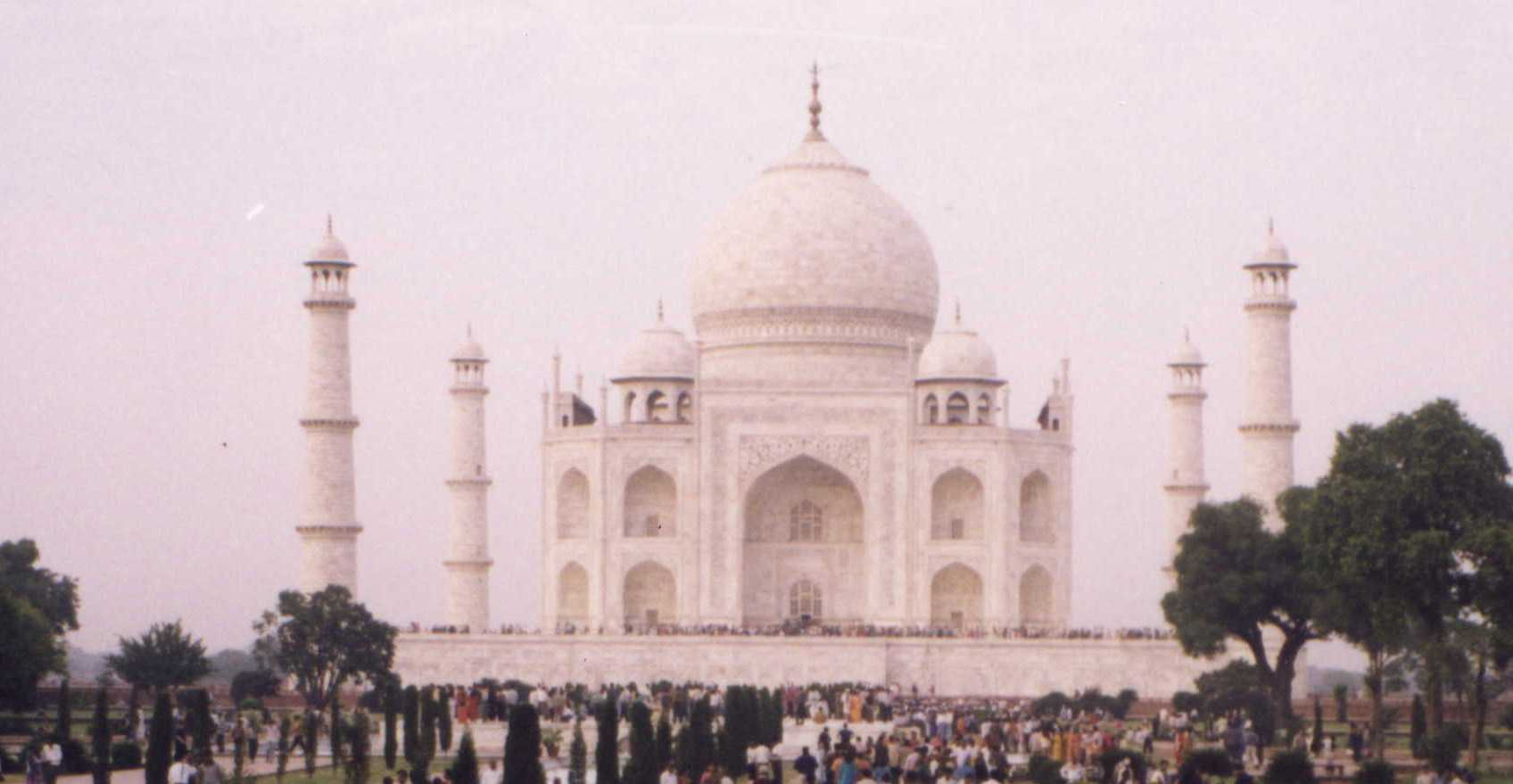 Enlarged image of the Taj Mahal